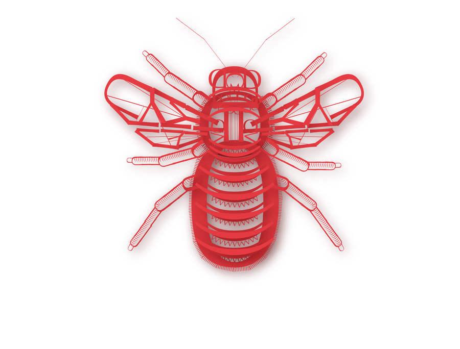 insectos hechos con tipografía