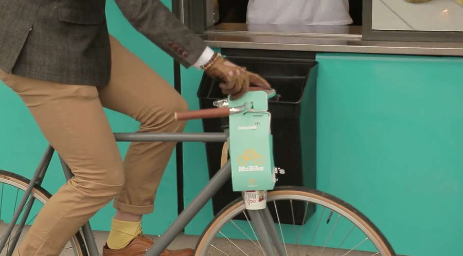 packaging de mcdonalds para bicicletas