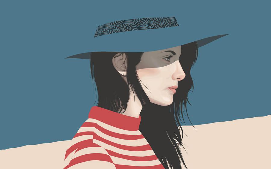 retrato de mujer en vectores