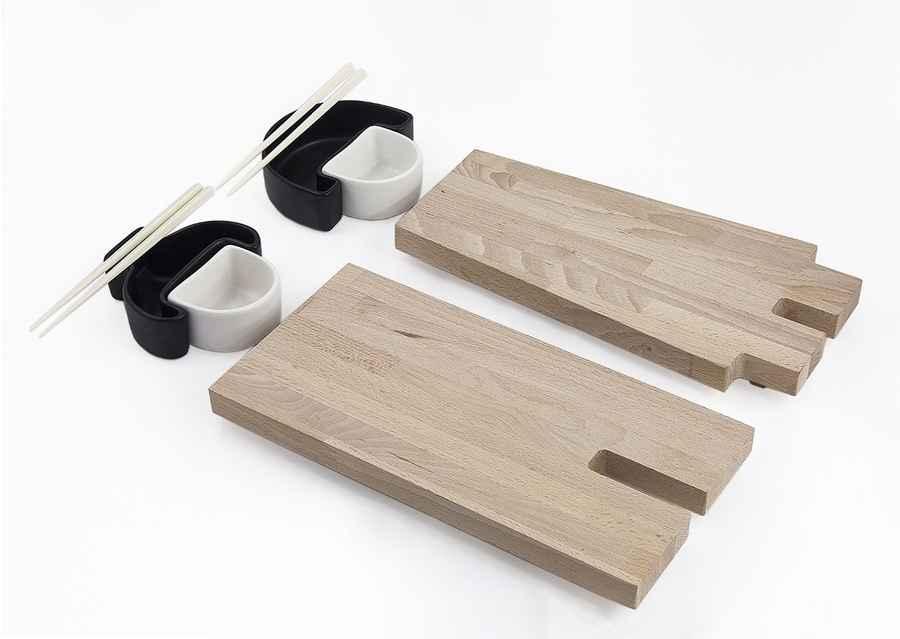 set para comer sushi