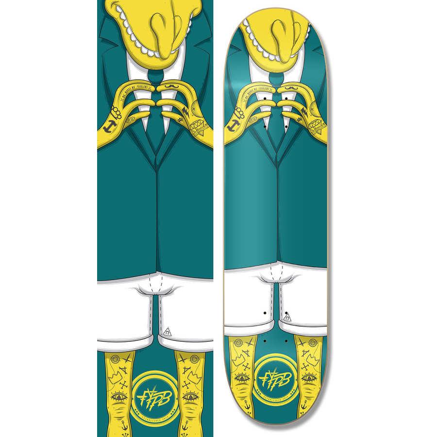 skateboard de los Simpson