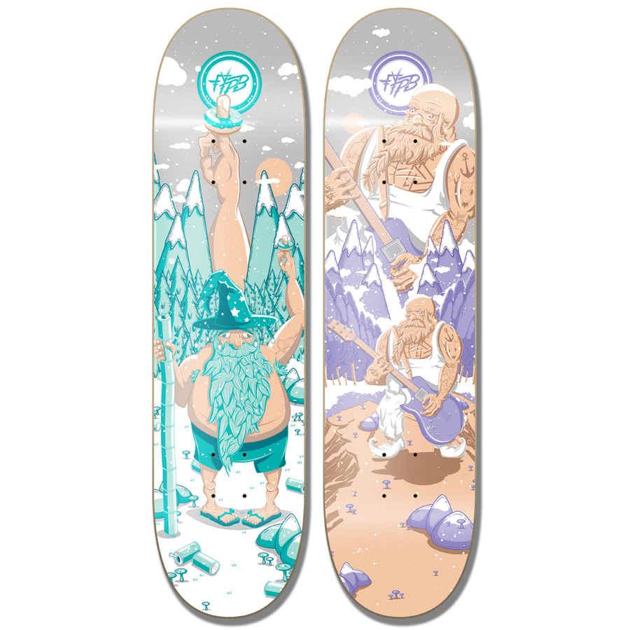 skateboard con diseños