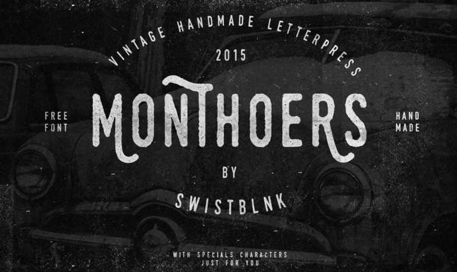 tipografía estilo vintage