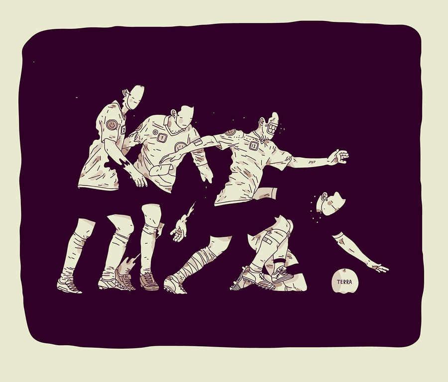 ilustraciones de futbolistas