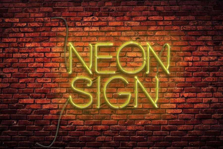 luz de neon en photoshop