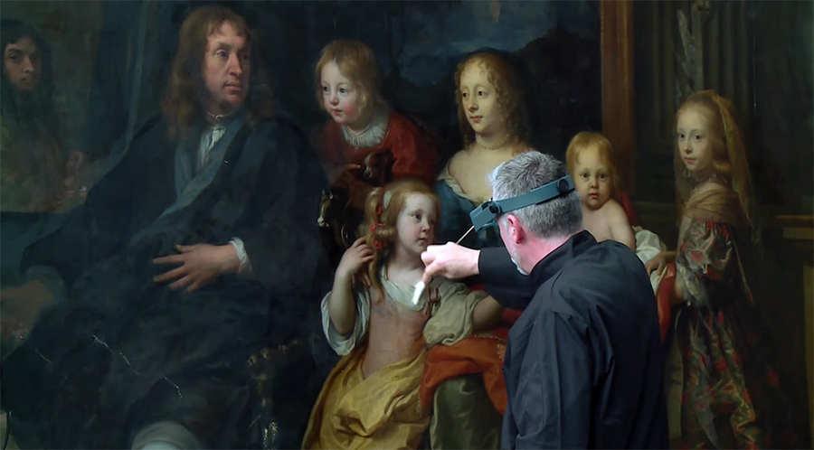 restauración de pintura antigua