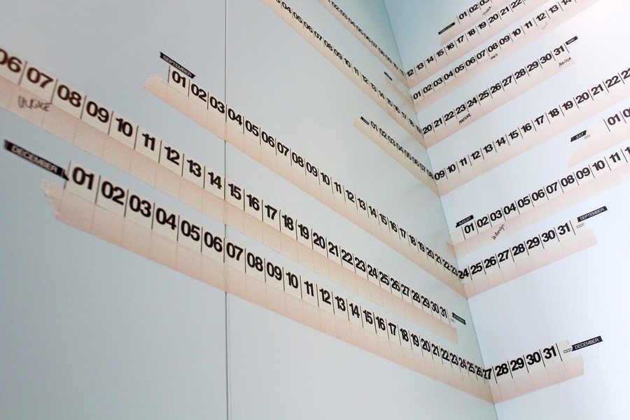 crea tu propio calendario con cintas
