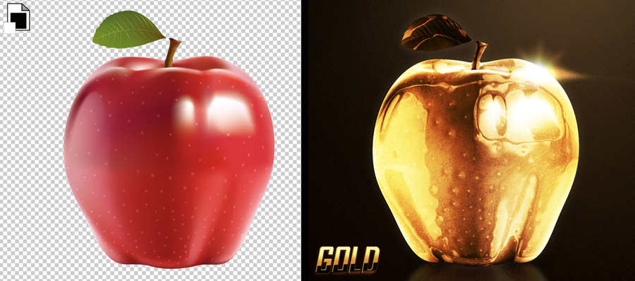 crear color oro en Photoshop