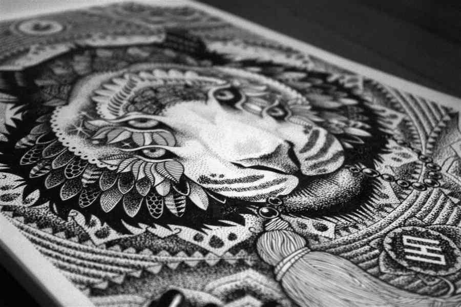 Dibujos con distintos tipos de estilógrafos