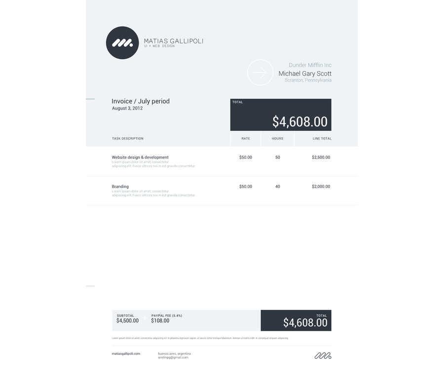 diseños de facturas creativas