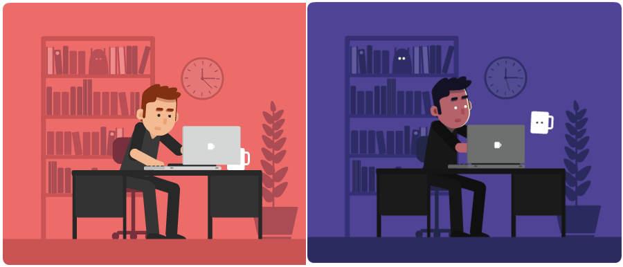 el trabajo de un diseñador gráfico