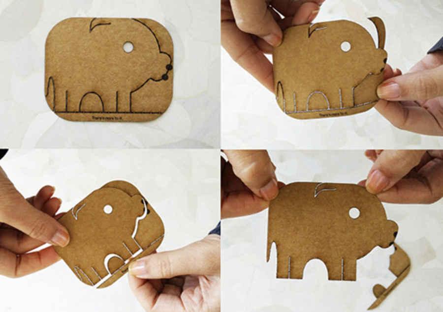tarjeta presentación forma de animales