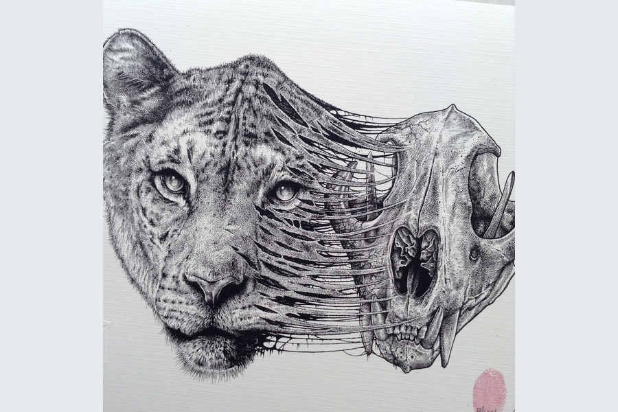 dibujo con partes de animal