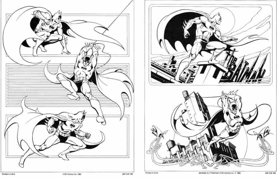 dibujos de dc comics para colorear