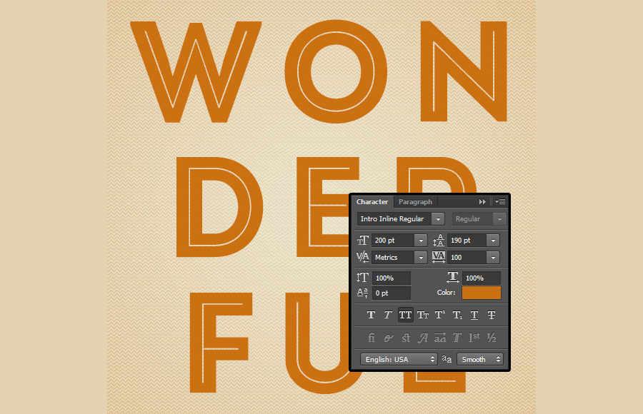efecto retro en tipografía