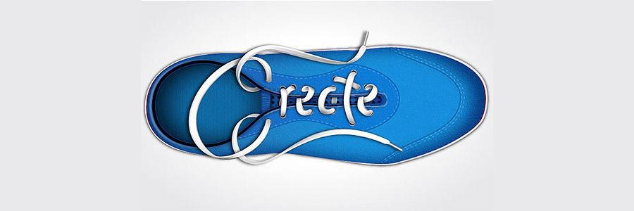 hacer letras con cordones de tenis