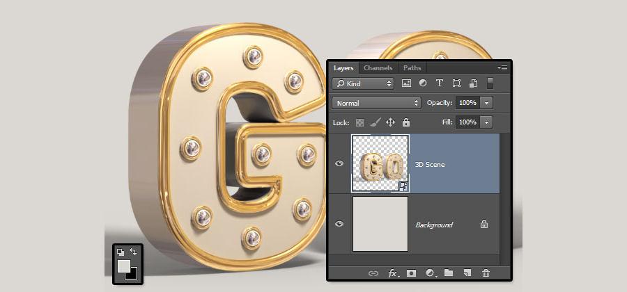 letras doradas en photoshop