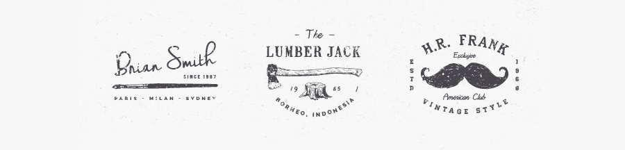logotipos vintage en vectores
