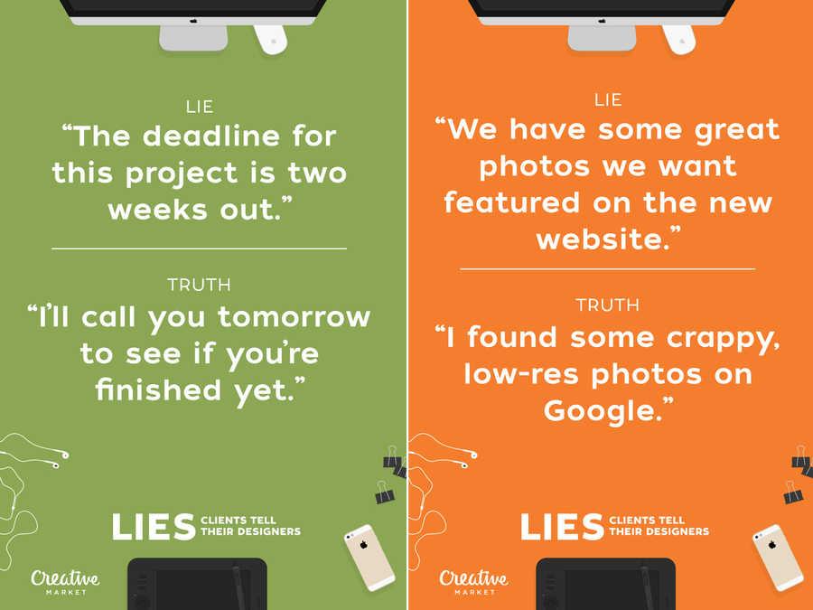 mentiras de clientes