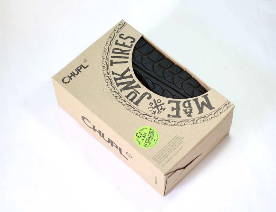 caja para zapatos de materiales reciclados
