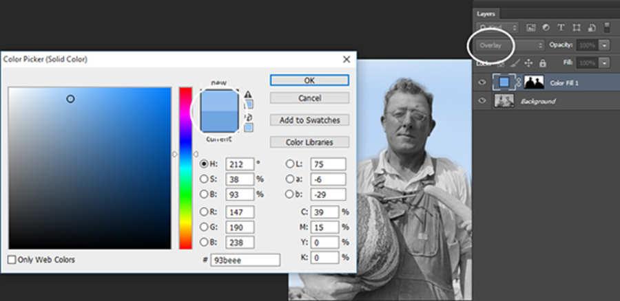 colorear fotografía antigua