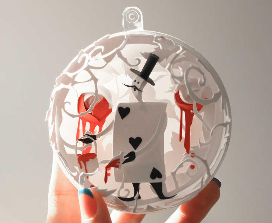 esferas de papel para Navidad