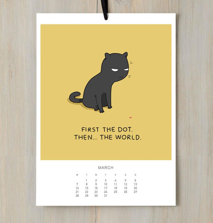 calendario 2016 de gatos