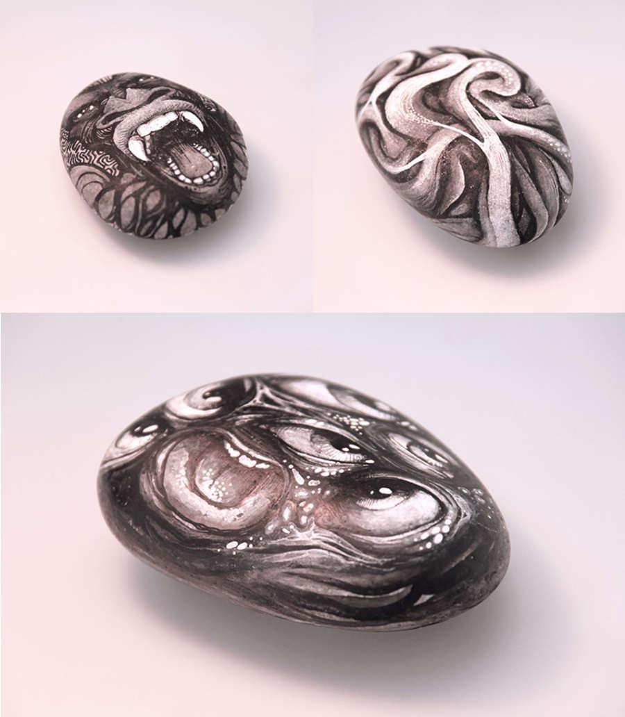 dibujos sobre rocas