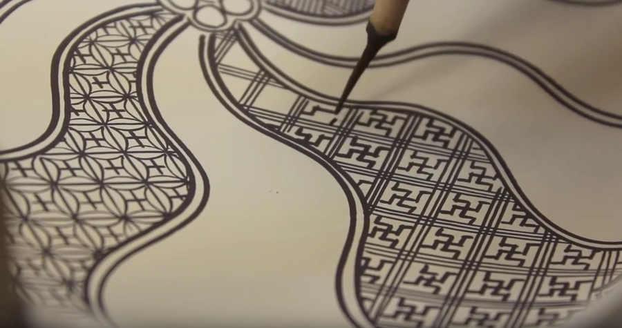 pintura en cerámica japonesa