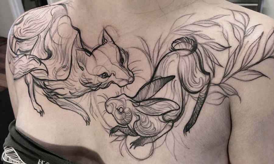 tatuajes que parecen bocetos