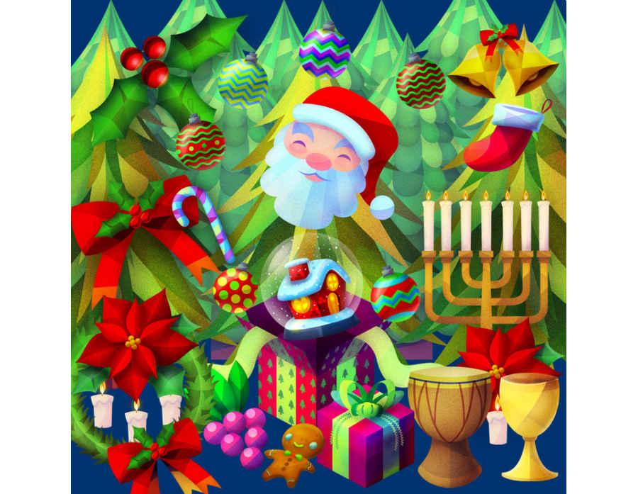 adornos navideños gratis
