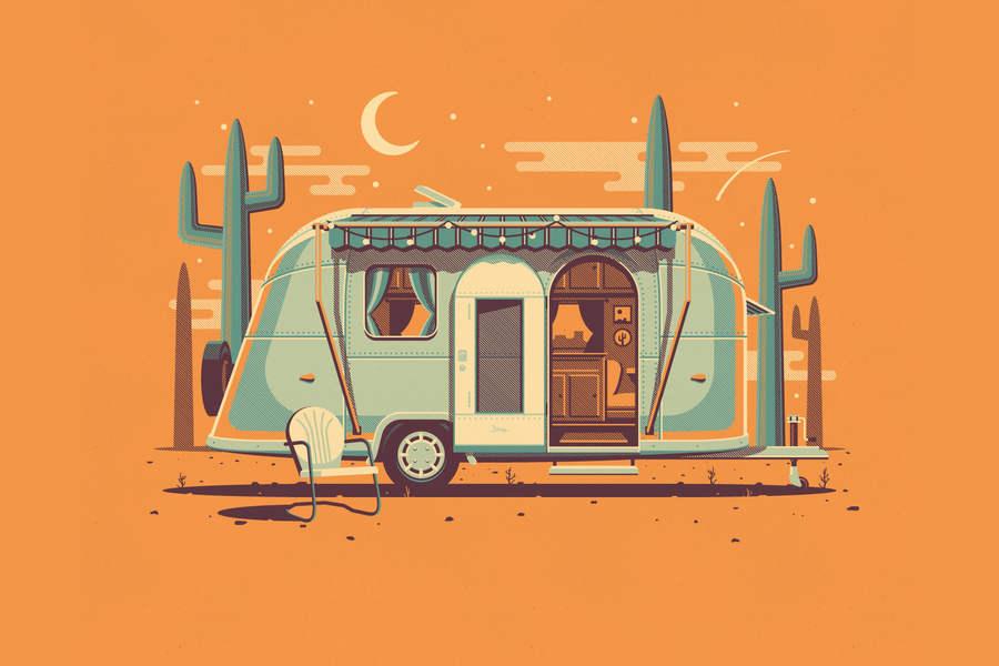 automóvil para acampar