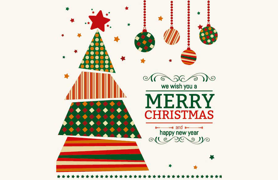 tarjetas de navidad en vectores