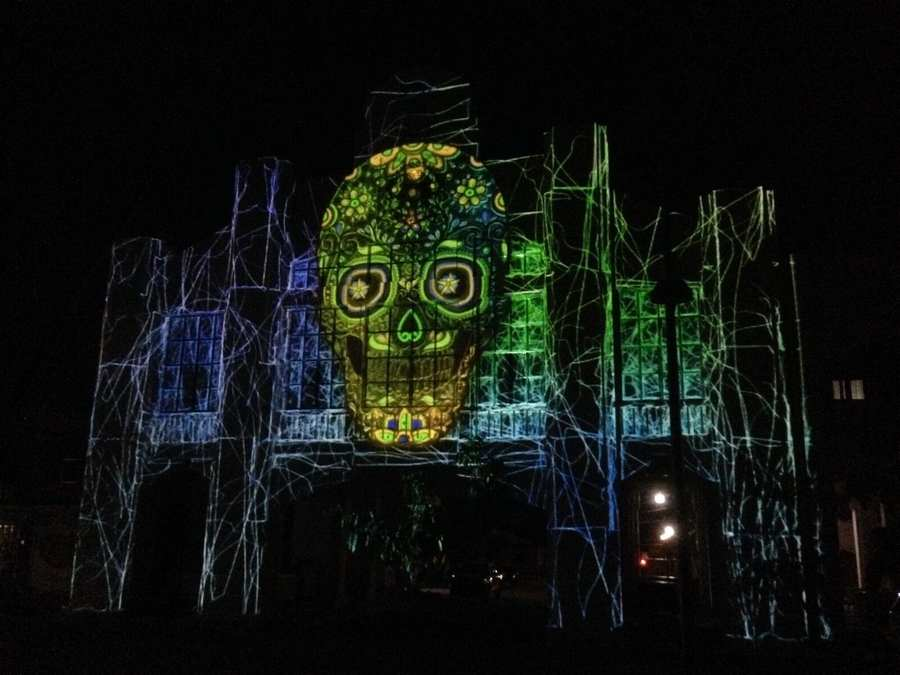 video mapping en Oaxaca