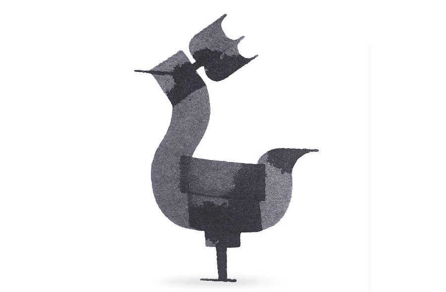 animal hecho con caligrafía
