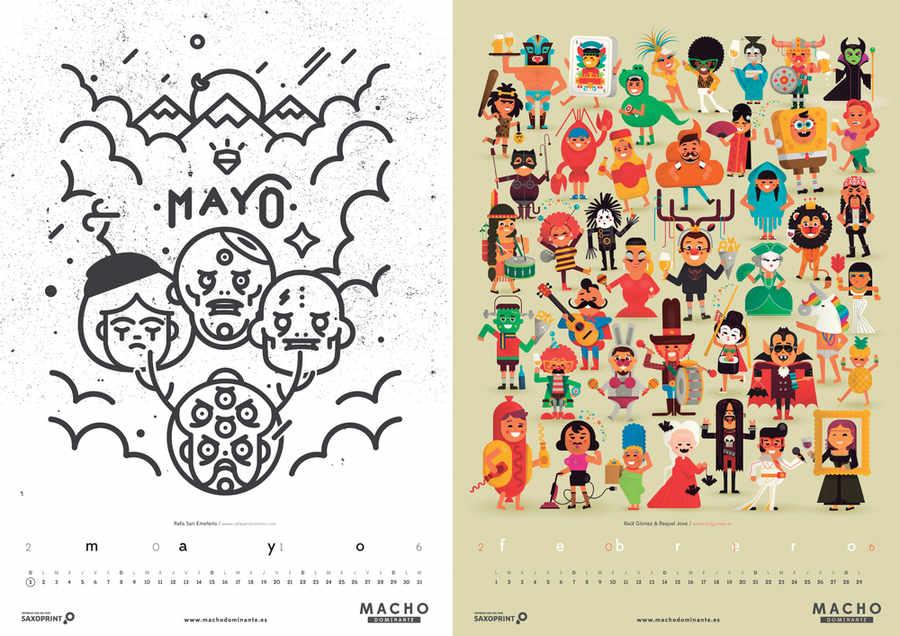 calendario colavorativo 2016
