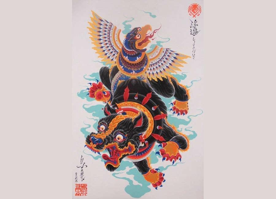 dibujos cultura japonesa y mexicana