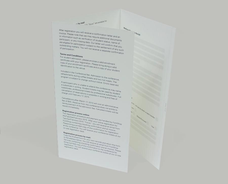 diseño de folleto con letras