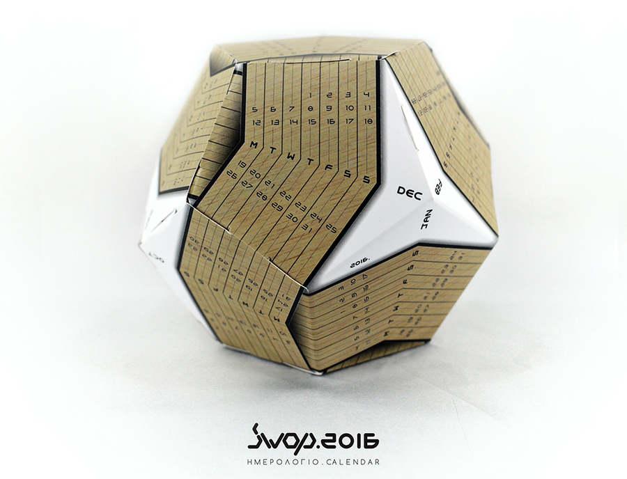 calendario 2016 en un dodecaedro