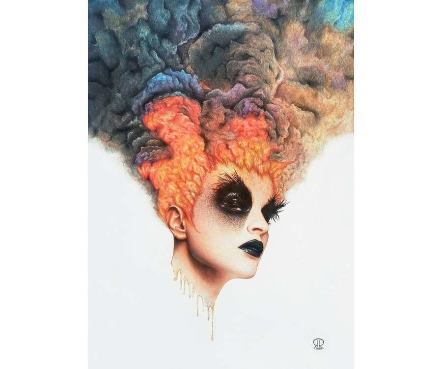 ilustración burning girl