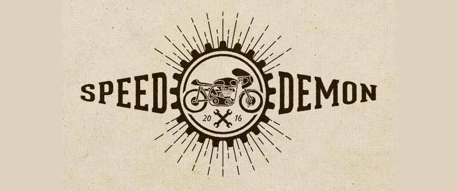 motocicletas clásicas en vectores