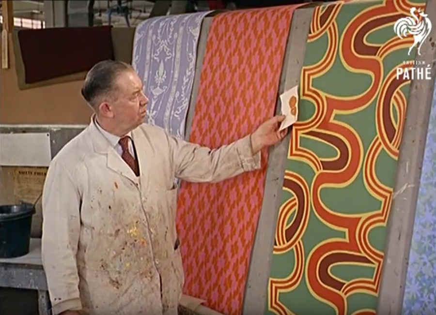 papel tapiz para pared de 1960