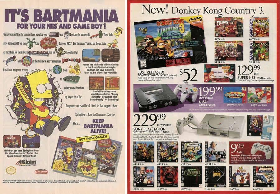 publicidad video juegos clásicos