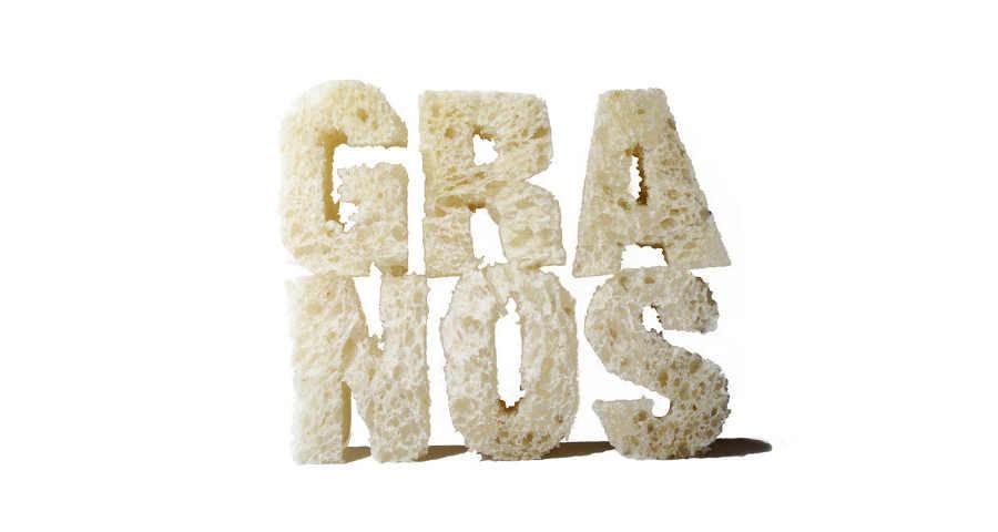 tipografías hechas con alimentos