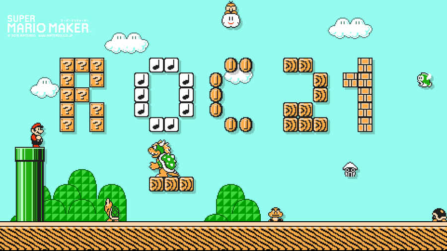 wallpaper versión Mario Maker