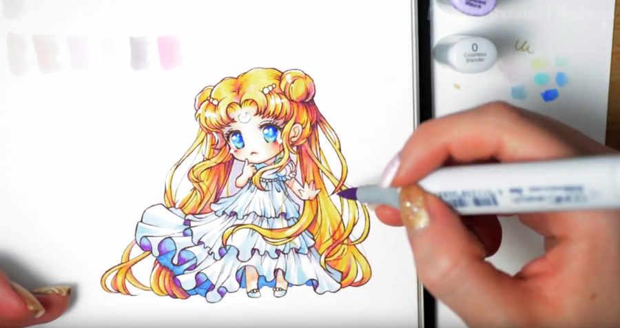 aprender a dibujar Sailor Moon