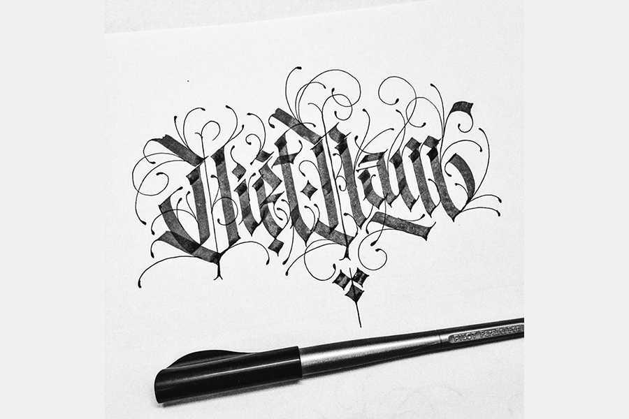 caligrafía gótica