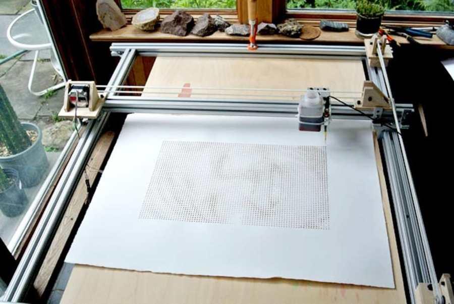 impresora de gotas de café