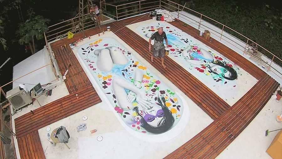 murales pintados en azotea