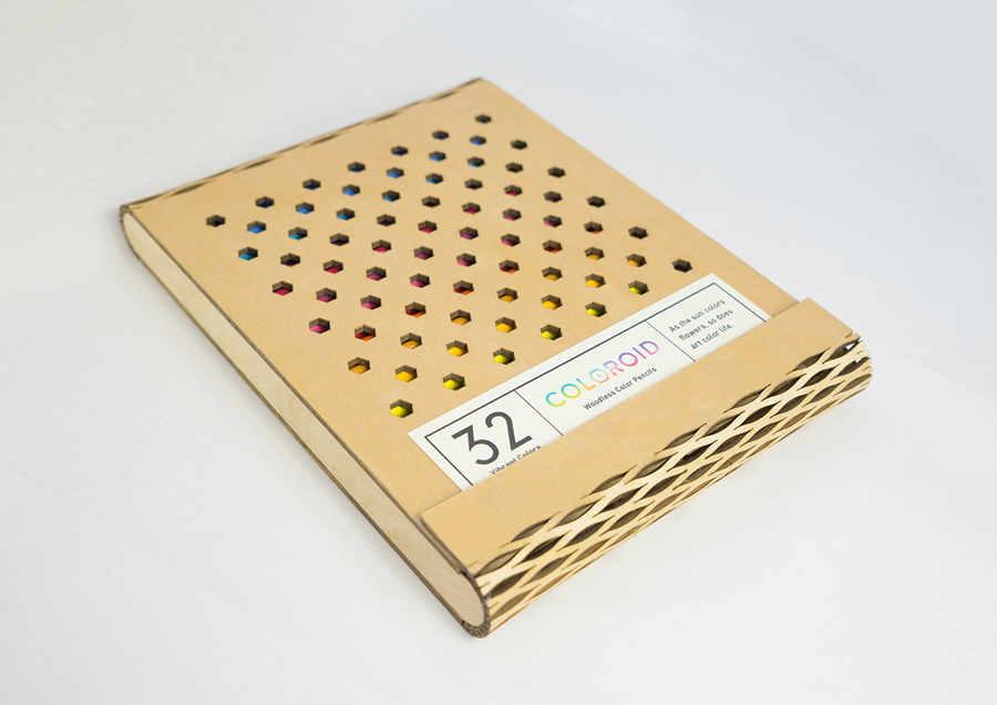 empaque ecológico para lápices de colores